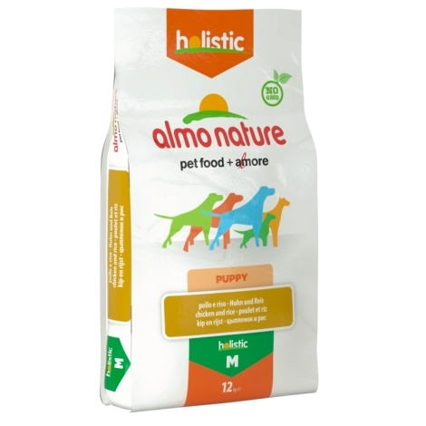 Almo Nature Holistic Dog M Puppy Chicken & Rice 12kg