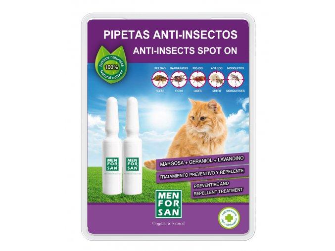 Menforsan přírodní repelentní pipety pro kočky 2ks