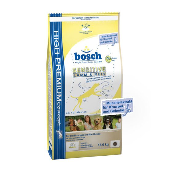 Bosch Dog Sensitive Lamb & Rice 15kg
