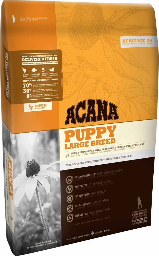 ACANA Heritage Dog Puppy Large Breed 2x17kg