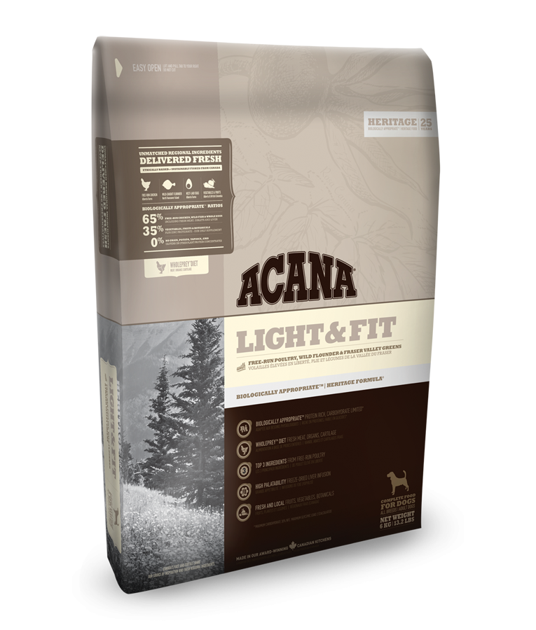 ACANA Heritage Dog Light & Fit 2x11,4kg