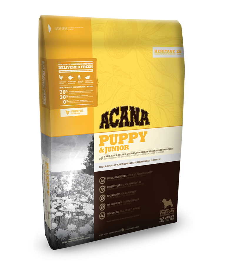 Acana Heritage Dog Puppy & Junior 2x17kg