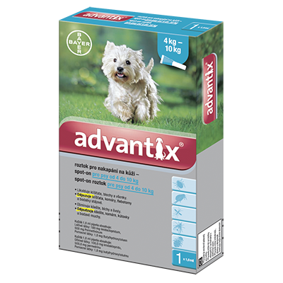 Advantix pro psy spot-on od 4kg do 10kg 1x1ml