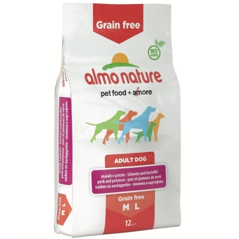 Almo Nature Holistic Dog M-L Adult Pork & Potato Grain Free 12kg