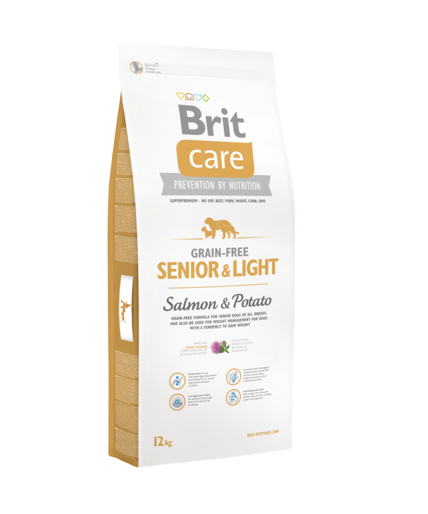 Brit Care Grain Free Senior & Light Salmon & Potato 3kg