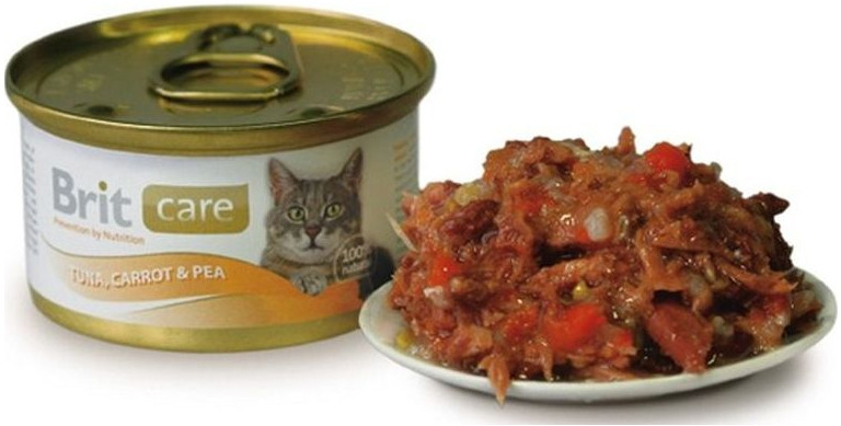 Brit Care Konzerva Tuna, Carrot & Pea 80g