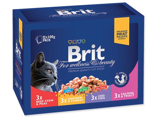 BRIT Premium Kapsičky Cat Family Plate 1200g