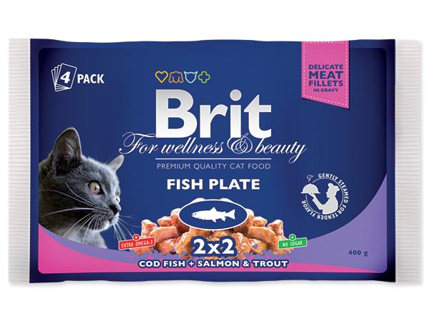 BRIT Premium Kapsičky Cat Fish Plate 4x100g