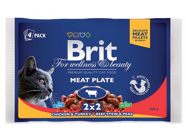 BRIT Premium Kapsičky Cat Meat Plate 4x100g