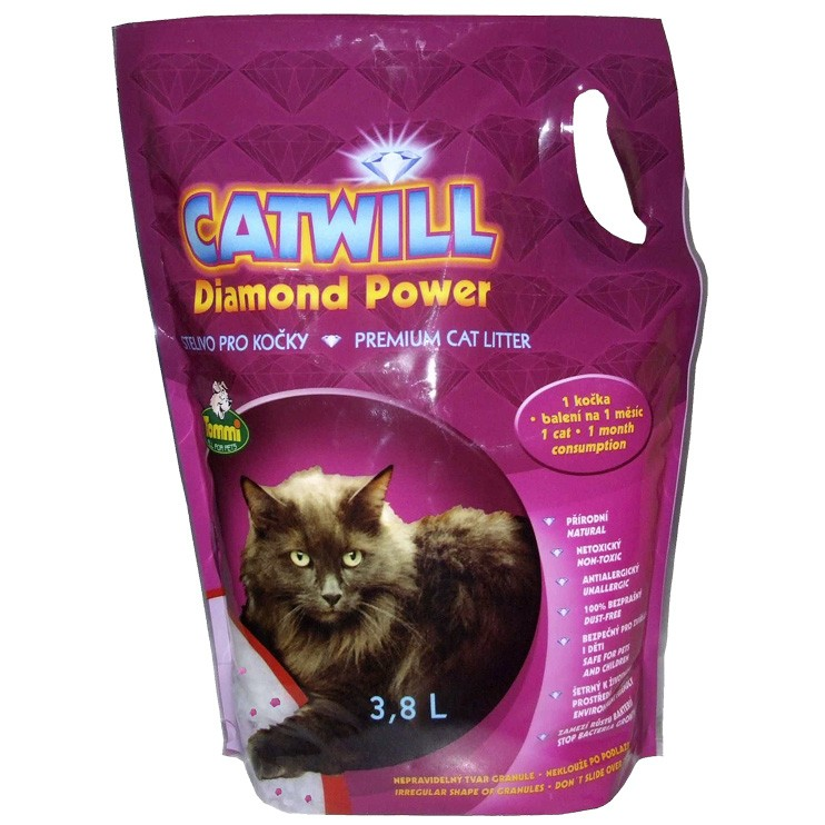 Kočkolit Catwill Diamond Power 3,8l