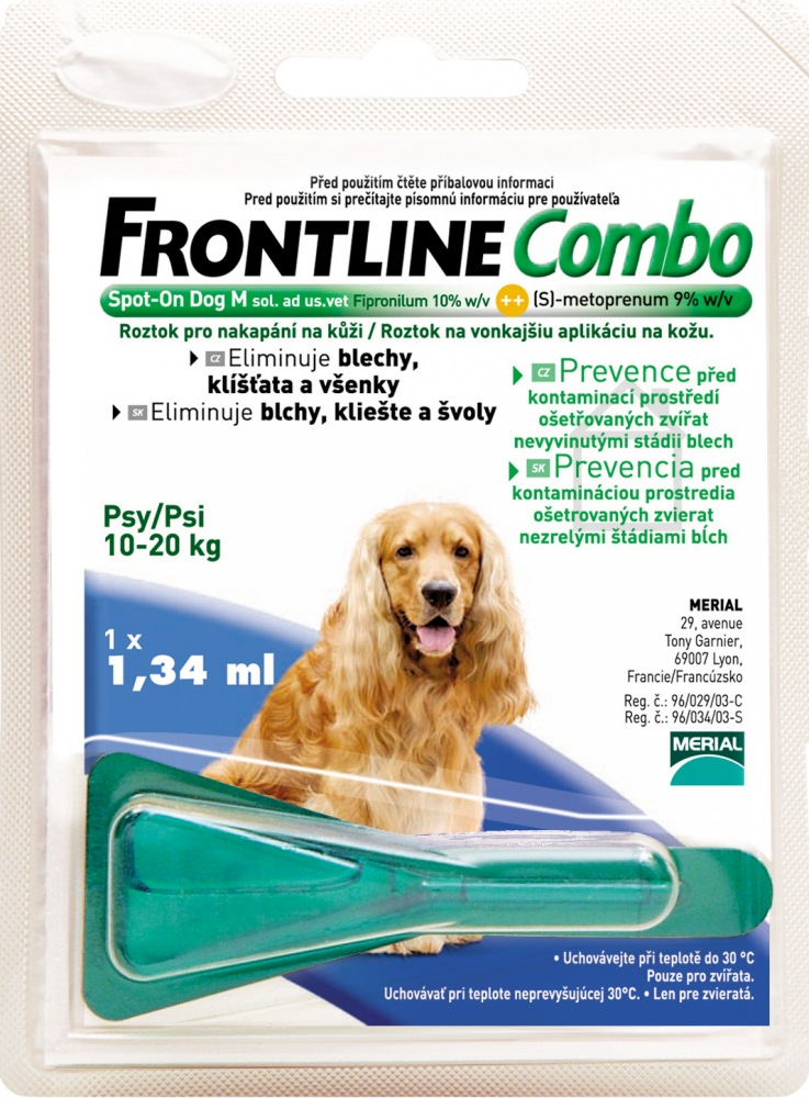 Frontline Combo Spot On Dog M 1 x 1,34ml
