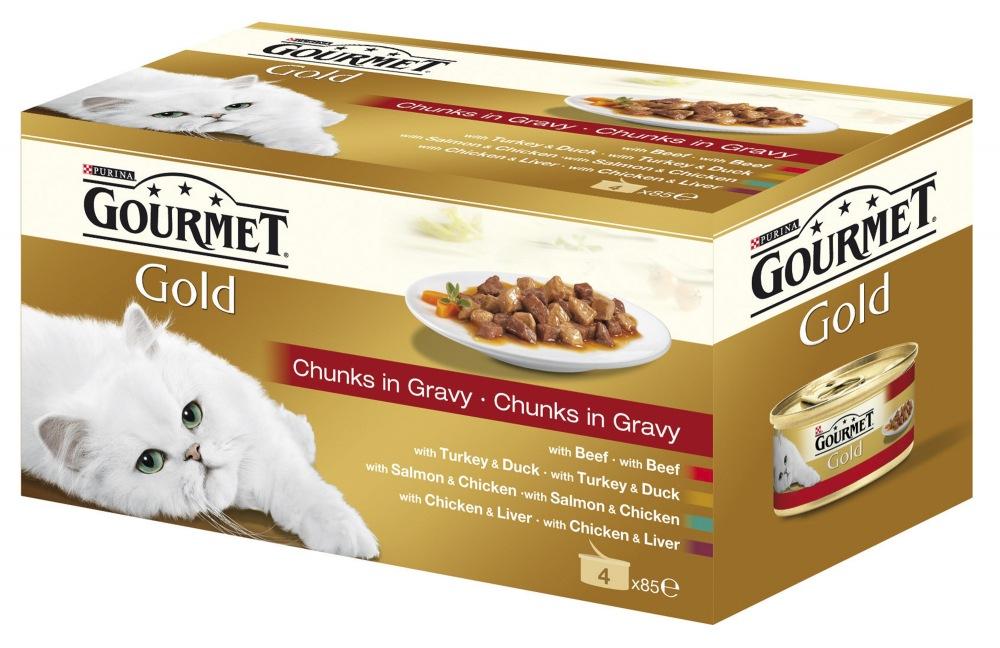 Gourmet Gold konzerva kousky masa ve šťávě 4x85g