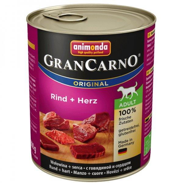 Gran Carno Adult konzerva hovězí + srdce 800g