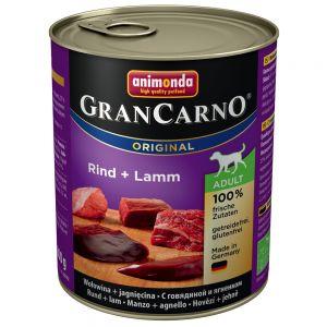 Gran Carno Adult Original konzerva hovězí + jehněčí 6x800g