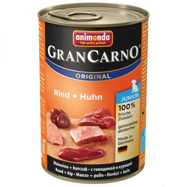 Gran Carno Junior konzerva hovězí + kuře 400g