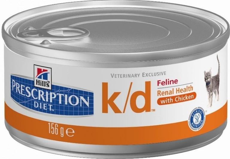 Hill's Feline K/D konzerva 156g - hrubě mletá