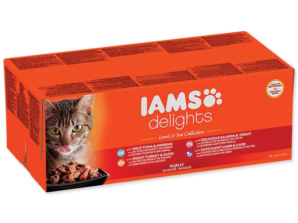 Kapsičky IAMS výběr z mas v želé 48x85g