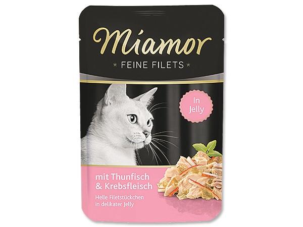 Kapsička Miamor Filets Tuňák+Krab 100g