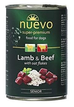 Nuevo konzerva Dog Senior Lamb & Beef 6x400g