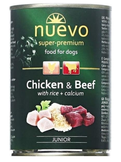 Nuevo konzerva Dog Junior Chicken & Beef 400g