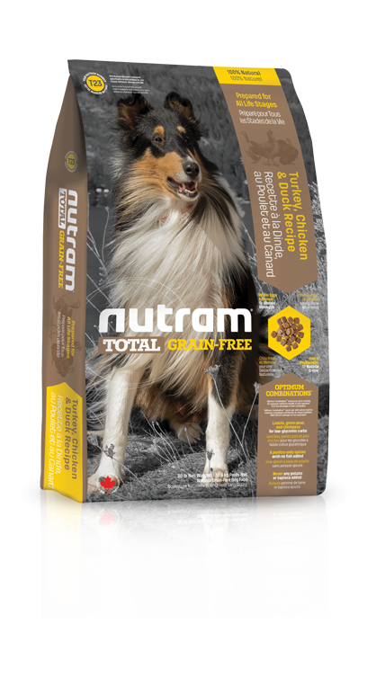 Nutram Total Dog Grain Free Turkey, Chicken & Duck 13,6kg