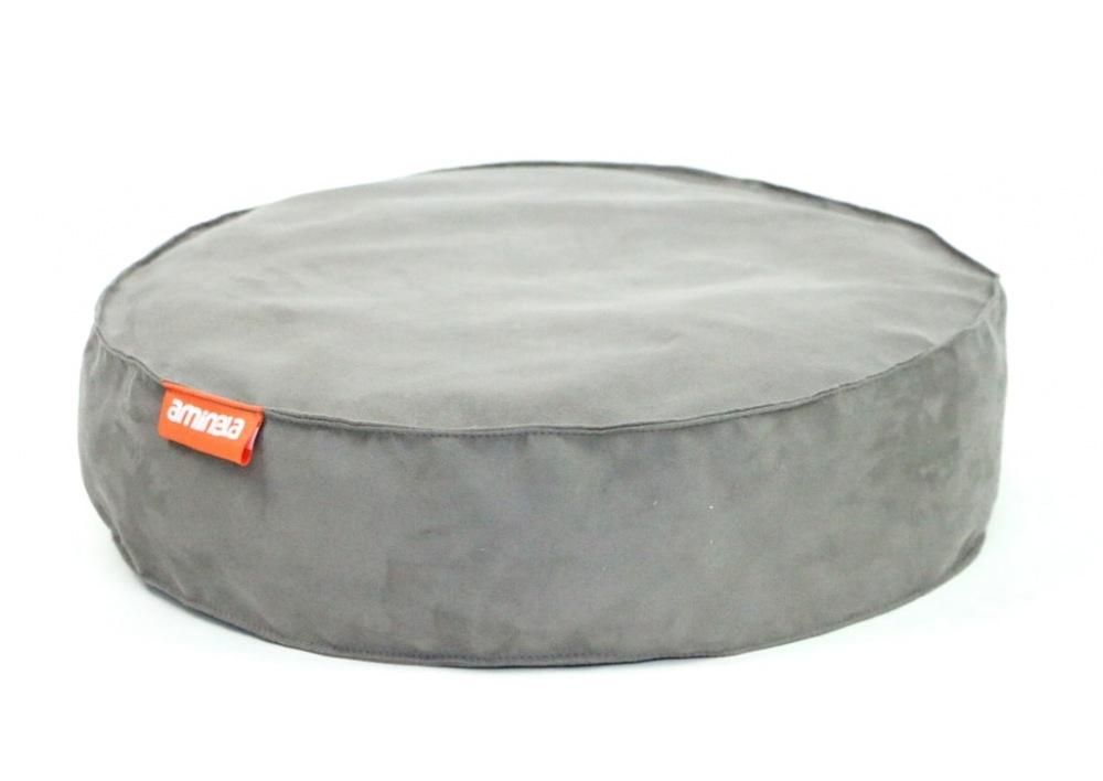 Kulatý pelíšek Aminela Full comfort šedý 50/12cm