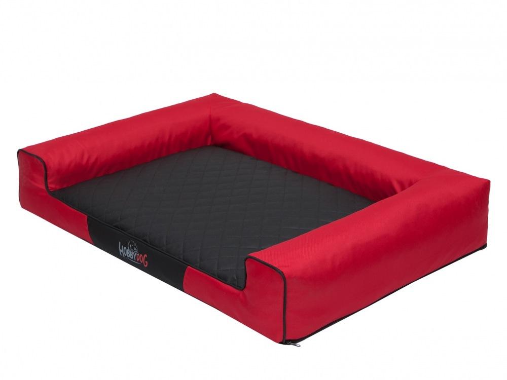Pelech Victoria Dog Bed černo/červený XL