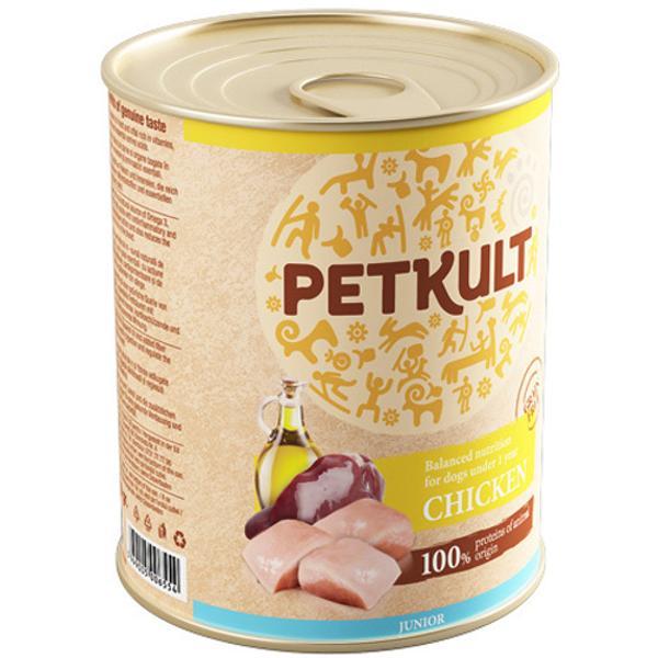 PETKULT Dog konzerva Junior Chicken 800g