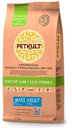 Petkult Dog Maxi Adult Lamb & Rice 12kg