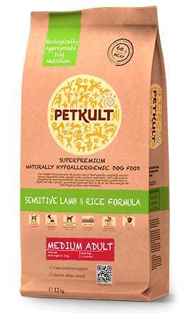 Petkult Dog Medium Adult Lamb & Rice 12kg