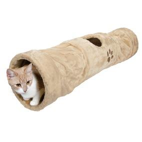 Plyšový tunel pro kočky béžový 25/125cm