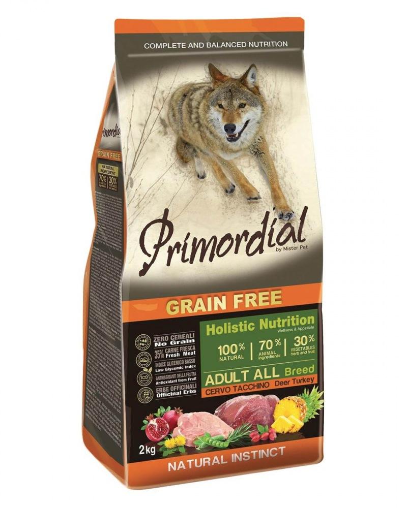 Primordial Grain Free Adult Deer & Turkey 12kg