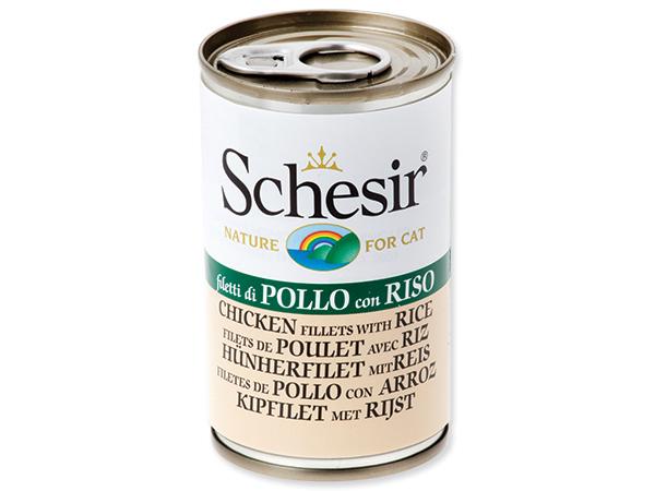 Schesir Cat konzerva kuře + rýže 140g