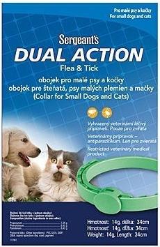 SERGEANT'S Dual antiparazitní obojek pes/kočka 34cm