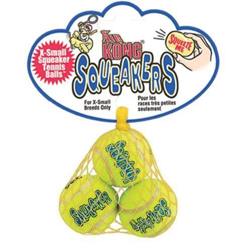 Hračka tenis Air Kong míč extra malý pískací 3 ks