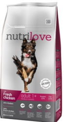 Nutrilove Dog Adult M fresh kuřecí