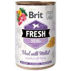 Brit Fresh Dog konzerva Veal with Millet 400g