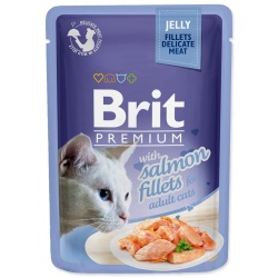BRIT Premium Kapsička Cat Delicate Fillets in Jelly with Salmon 85g