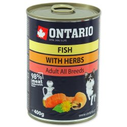 ONTARIO Dog konzerva Fish and Salmon Oil