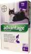 Advantage 80 10% 4x0,8ml Cat nad 4kg